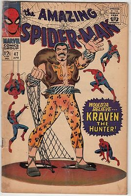 Amazing Spider-Man #47 strict VG+ 4.5   Appearance - The 5th Kraven the Hunter