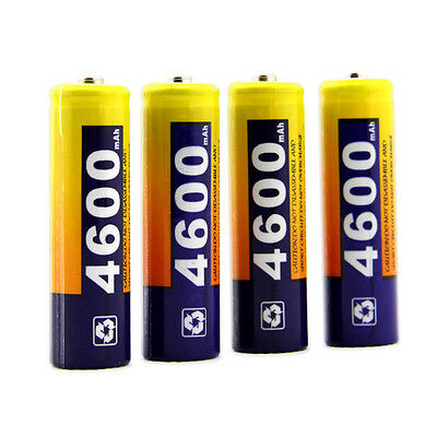 4 Pcs AA Cell 4600mAh Ni-MH Rechargeable Battery BTY For CD player camera flash