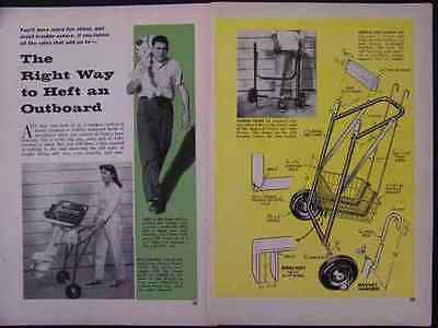 HowTo Carry Outboard Motor & build Carrier DOLLY PLANS