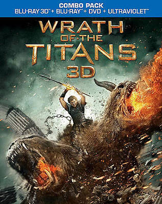 Wrath of the Titans (2D/3D Blu-ray/DVD, 2012, 3-Disc Set)
