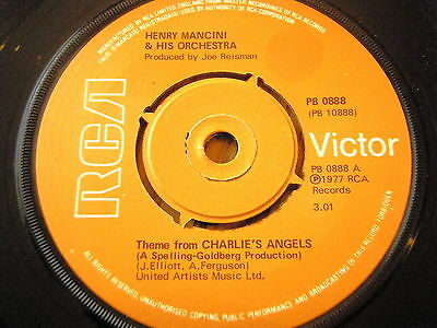"""Henry Mancini & His Orchestra - Theme From Charlie's Angels  7"""" Vinyl"""