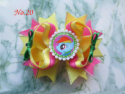 20 BLESSING Girl Boutique Modern Style Dance Hair Bow Clip 128 No. A6A