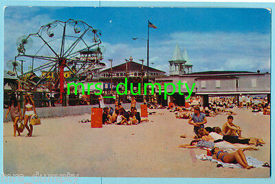 ME Old Orchard Beach PALACE PLAYGROUND & CASINO PIER From Sand~Maine POSTCARD #3