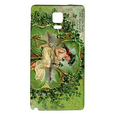 St Patrick's Day 3 Leaf Clover Fairy Hardshell Case For Samsung Galaxy Note 4