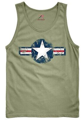 Army Air Corps Tank Top Muscle Shirt Sleeveless OD Green Olive Drab Rothco 6952