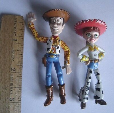 "Toy Story PVC Figure Disney Pixar Woody Jessie Cowboy  Andy's Room Toy 3"" Lot 2"
