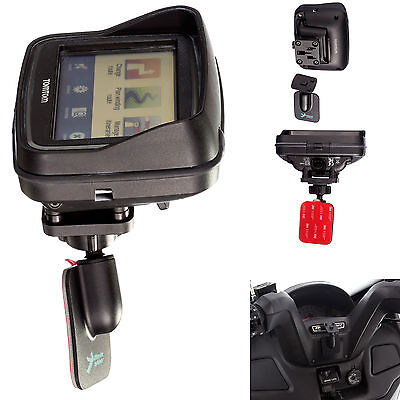 Motorcycle 3M Adhesive Mount + Adapter for use with Tomtom Rider v5 Active Dock