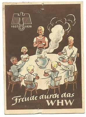 WHW charity door-card 1937-1938 (4/6) Winter Relief pre-WW2 Third Reich Germany