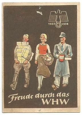 WHW charity door-card 1937-1938 (6/6) Winter Relief pre-WW2 Third Reich Germany
