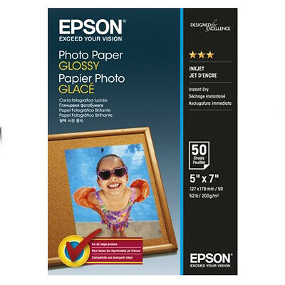 Epson Paper S042545 Glossy Photo Paper 200gsm 50 Sheets 13x18cm 5x7