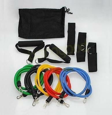 Resistance bands 11 pcs Fitness Exercise Latex Tube yoga workout abs