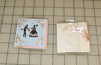 2 Vintage (1930s/40s) Art-Deco BRIDGE PARTY Unopened Tally Card Packages ~~!