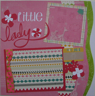 ~Little Lady~princess~girl~2 pre-made 12x12 scrapbook pages~