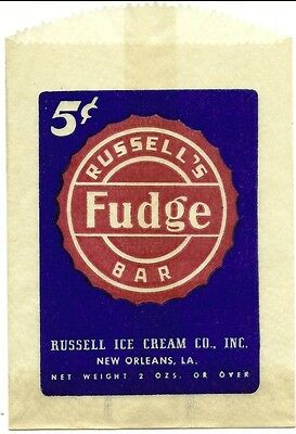 Russell's Fudge Bar Bag Russell Ice Cream Co. New Orleans, Louisiana