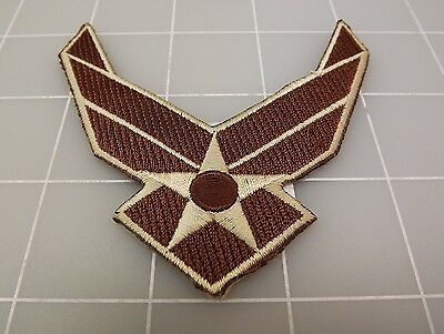 U.S. AIR FORCE Logo ll Brown PATCH BRAND NEW 3 1/2""