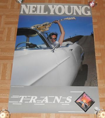 Neil Young Trans 1982 Original Promo Poster 23x35