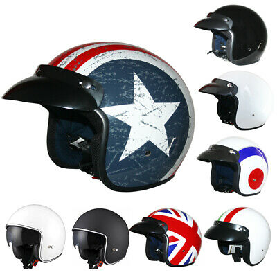 LEOPARD LEO-604 Motorbike Helmet Open Face Motorcycle Scooter Goggles Optional