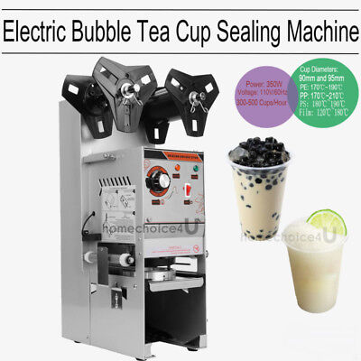 Semi Auto Electric Cup Sealing Machine Boba Bubble Tea Coffee 300-500 Cups/Hr