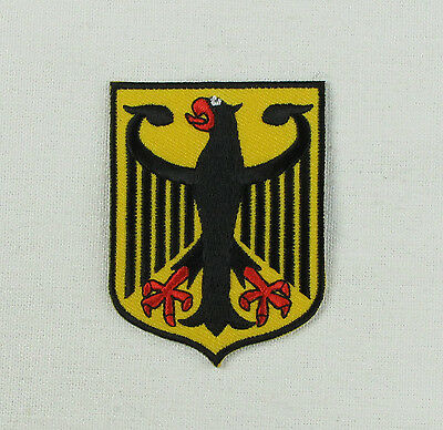 VW German Eagle Deutsche Wappen Iron or sew on embroidered patch camper beetle