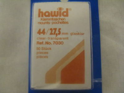 44/27.5Mm Hawid 50 Stamp Mounts Clear 1955/63 High Value - Supplies