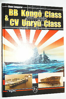 WW2 Japanese Navy Kongo Unryu Class Ships Reference Book