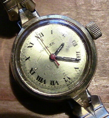 Vintage Jubilee Swiss Movement Watch With Speidel GP Stretch Band - Works Great!