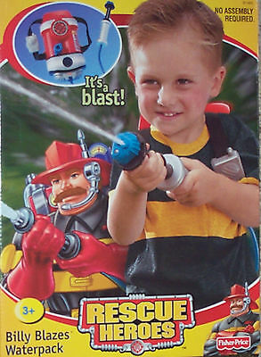 Rescue Heroes Billy Blazes Waterpack New Fisher-Price
