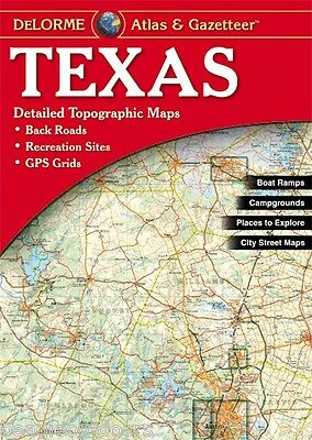 NEW Delorme Texas TX Atlas and Gazetteer Topo Road Map Topographic Maps