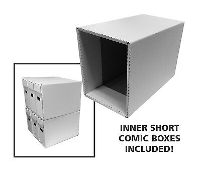 10 Cardboard Short Comic Storage Boxes & Outer Houses (10 of EACH!)