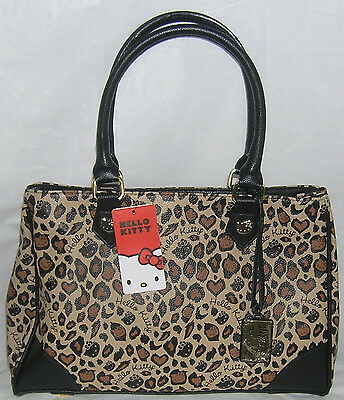 HELLO KITTY TOTE BAG PURSE LEOPARD LOUNGEFLY FREE SHIPPING NICE GIFT NWT