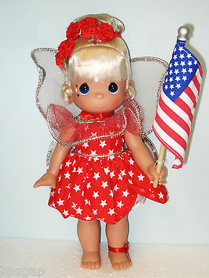PRECIOUS MOMENTS DISNEY STAR SPANGLED TINKERBELL DOLL
