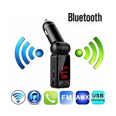 Wireless Bluetooth FM Transmitter Car MP3 SD USB Charger Handsfree for iPhone 7