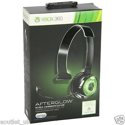 PDP Afterglow Wired Communicator Gaming Headset Mic Xbox 360 X360 NEW