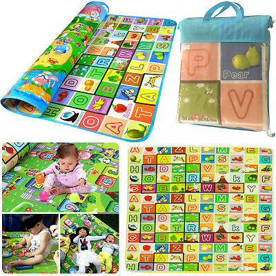 Large Kids Crawling Educational Double Side Game Baby Play Soft Foam Mat Carpet