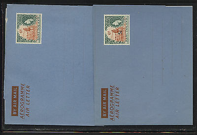 Basutoland  2 air letter sheets one revalued,  unused            MS1229