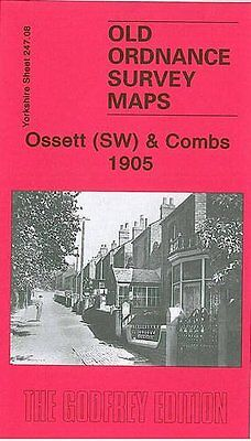 Old Ordnance Survey Map Ossett (South West) & Combs 1905