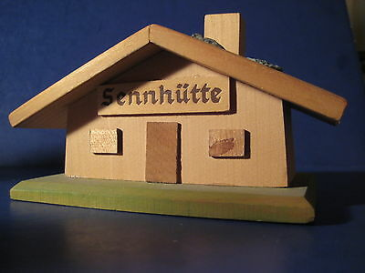 Souvenir Building West Germany Sennhiitte Ski Hut Wood