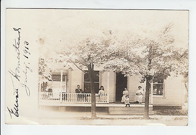 Elliott Home Hagerstown Indiana Wayne County IN Old RPPC Postcard Vintage Photo