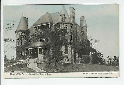 David A. Purviance Home Huntington Indiana County IN Old Postcard Vintage