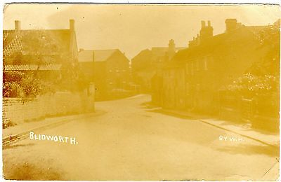 R.p.postcard Houses On Hill-Blidworth-Village-Notts-From The Vicarage 1910