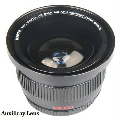 0.42X Super Wide Angle Fisheye Lens for Canon EOS T6i T5i 100D 650D 1200D XS