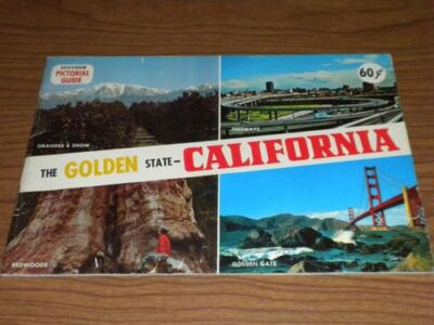 VINTAGE 1970 SOUVENIR PICTORIAL GUIDE OF THE GOLDEN STATE-CALIFORNIA