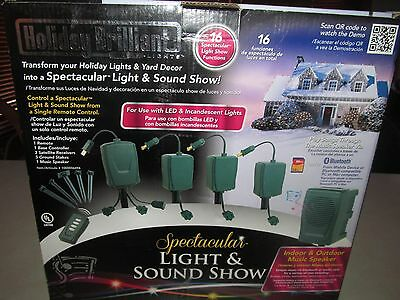 Holiday Brilliant Spectacular Light & Sound Show 16 Functions with Remote