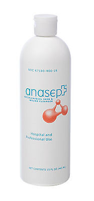 """Anasept Antimicrobial Skin & Wound Cleanser: 15oz (Flip-top Bottle) - """"EACH"""""""