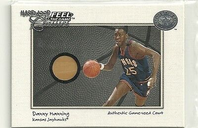 2001 Greats of the Game - DANNY MANNING - Game Used Floor - KANSAS JAYHAWKS