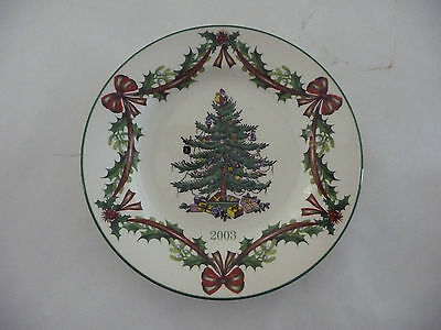 Spode CHRISTMAS TREE (GREEN TRIM) 2003 Collector Plate 65th Anniversary 7 3/4""