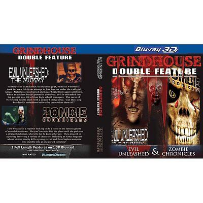 GRINDHOUSE BLU RAY 3D EVIL UNLEASHED MUMMY+ ZOMBIE CHRONICLES NEW! WALKING DEAD