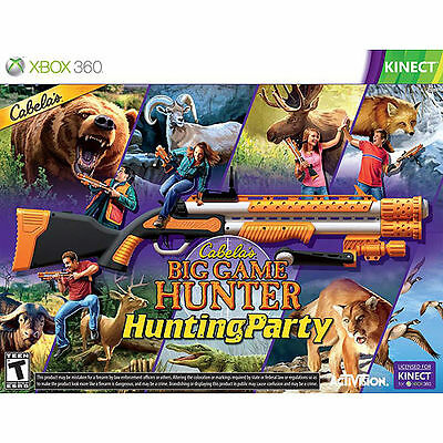 Cabela's Big Game Hunter Hunting Party XBOX 360 KINECT NEW! W/TOP SHOT SPORT GUN