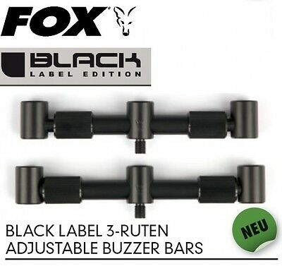 Fox Black Label 3-Ruten Adjustable Buzzer Bars für Karpfenruten