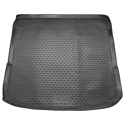 Audi Q7 06-15 Rubber Boot Liner Tailored Fitted Black Floor Mat Protector Tray